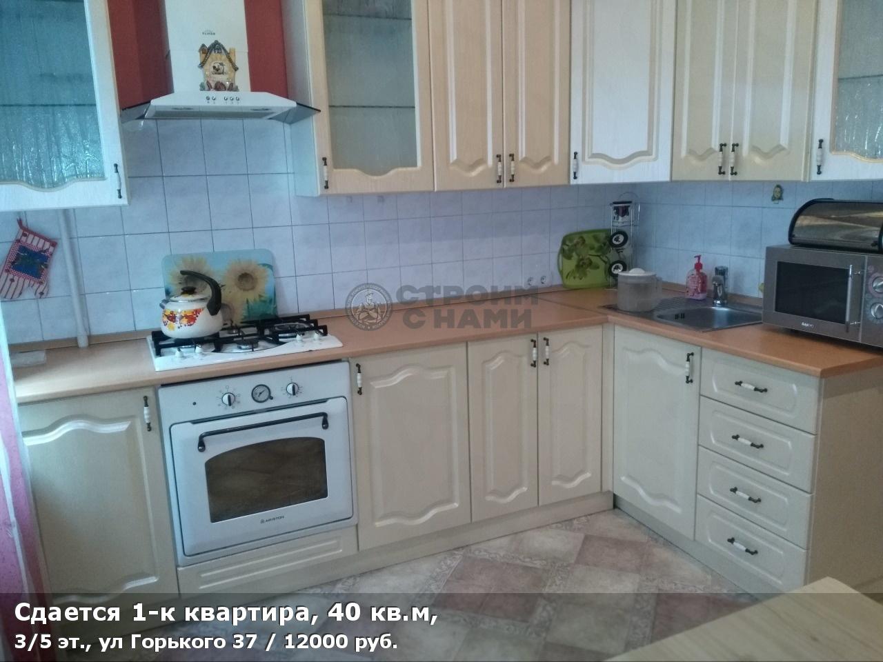 Сдается 1-к квартира, 40 кв.м, 3/5 эт., ул Горького 37