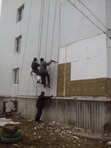 Утепление стен в Рязани.  Сделанное добросовестно