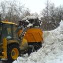 Вывоз снега, спец-техникой.